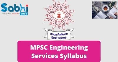 MPSC Engineering Services Syllabus 2020