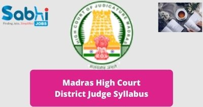 Madras High Court District Judge Syllabus 2020