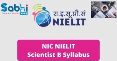 NIC NIELIT Scientist B Syllabus 2020