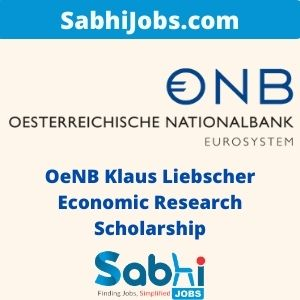 OeNB Klaus Liebscher Economic Research Scholarship 2020
