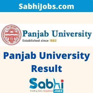 Panjab University Result 2020