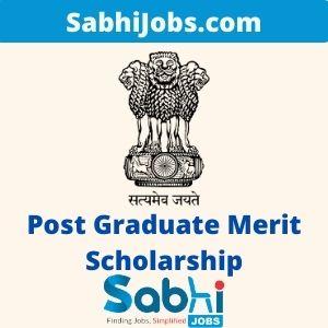 Post Graduate Merit Scholarship for University Rank Holders 2020 – Last Date, Eligibility, Applications