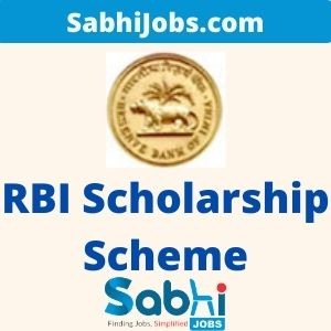 RBI Scholarship Scheme 2020 For Faculty Members From Academic Institutions