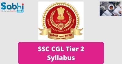 SSC CGL Tier 2 Syllabus