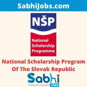 National Scholarship Program Of The Slovak Republic – Last Date, Applications
