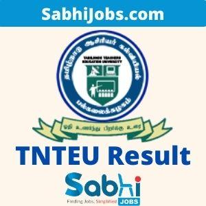 TNTEU Result 2020