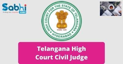 Telangana High Court Civil Judge