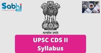 UPSC CDS II Syllabus