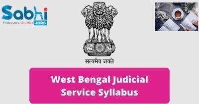 West Bengal Judicial Service Syllabus