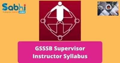 GSSSB Supervisor Instructor Syllabus