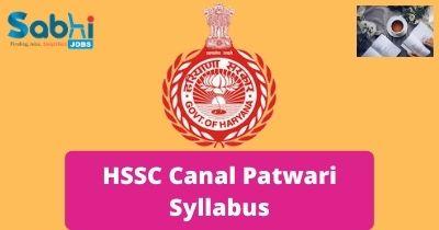 HSSC Canal Patwari Syllabus