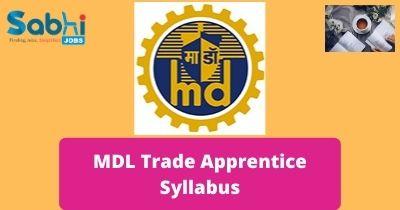 MDL Trade Apprentice Syllabus