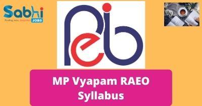 MP Vyapam RAEO Syllabus