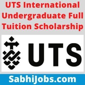 UTS International Undergraduate Full Tuition Scholarship 2020 – Last Date, Applications