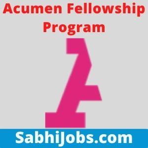 Acumen Fellowship Program