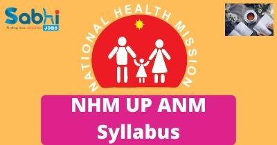 NHM UP ANM Syllabus