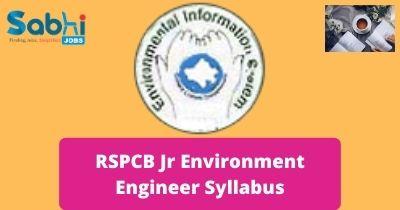 RSPCB Jr Environment Engineer Syllabus