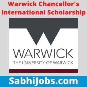 Warwick Chancellor's International Scholarship