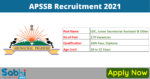 APSSB Recruitment 2021