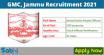 GMC, Jammu Recruitment 2021