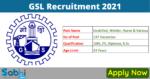 GSL Recruitment 2021