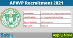 APVVP Recruitment 2021