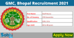 GMC, Bhopal Recruitment 2021