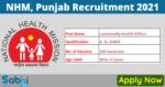 NHM, Punjab Recruitment 2021