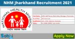 NHM Jharkhand Jobs 2021