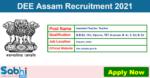 DEE Assam Recruitment 2021