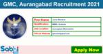GMC, Aurangabad Recruitment 2021